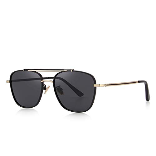 Polarized Square Sunglasses Fashion Eyewear 100% UV Protection for Men ()