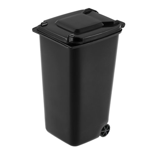 Mini Wheelie Bin Desk Tidy Office Desktop Stationery Organiser Pencil Holder ()