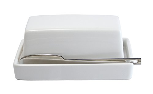 ZEROJAPAN Butter Dish with Knife White BYK-12 WH (japan import)