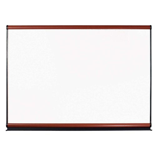 Mahogany Whiteboard Frame - Quartet Connectable Modular Board System, 6 x 4 Feet, Magnetic Porcelain and Mahogany Frame Kit (MB06P2)