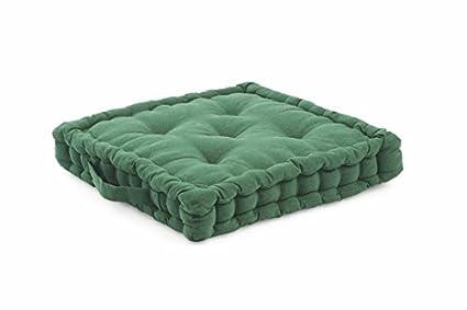 Galileo casa cuscino per sedia cotone verde scuro