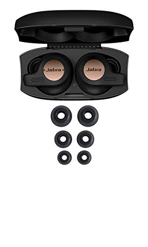 Jabra Elite Active 65t Earbuds - True Wireless Earbuds with Charging Case, Copper Black - Bluetooth Earbuds with a Secure Fit and Superior Sound, Long Battery Life and More