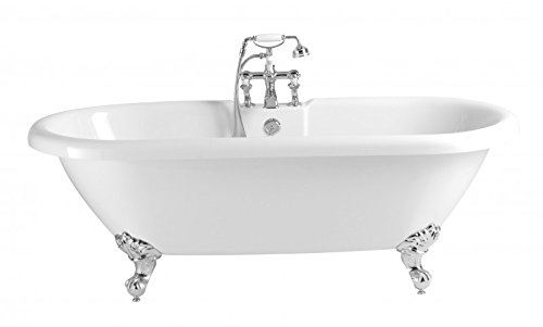 Casa Padrino Nouveau bath detached White model He-Bab 1495mm - Freestanding Retro