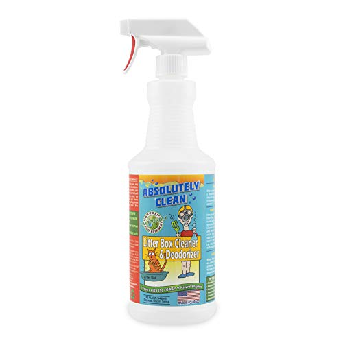Absolutely Clean Litter Box Cleaner and Deodorizer, Eliminate Odors Quickly, Neutralizes Urine and Feces Odors in The Air and The Box, Make Litter Last Longer, Veteran Owned ()