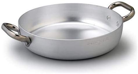 Acciaio 2 Manici 20 cm Argento Pentole Agnelli ALMA110PI20 Linea Alluminio Tegame con Fondo a Induzione