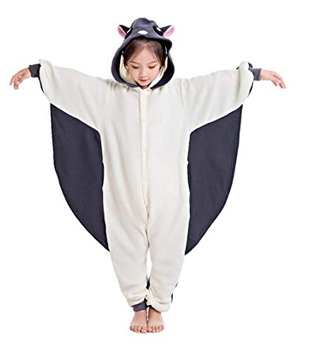 CANASOUR Polyster Halloween Animal Kid Flying Squirrel Costume Cosplay Pajamas (6(105#), Grey)]()