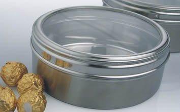 Kosma Stainless Steel Candy Box Round Tin Cake Tin Storage