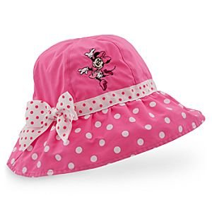 Amazon.com  Minnie Mouse Girls Pink Polka Dot Sun Hat (Girls Large 8 ... 6235e82187b