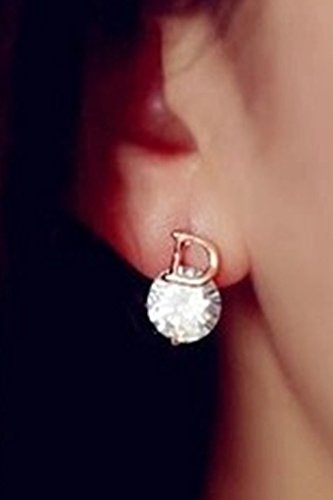 Thai Princess Korean Fashion Unique Crystal Size Letters Home Delicate Zircon Earrings earings Dangler Eardrop Asymmetric Excellent