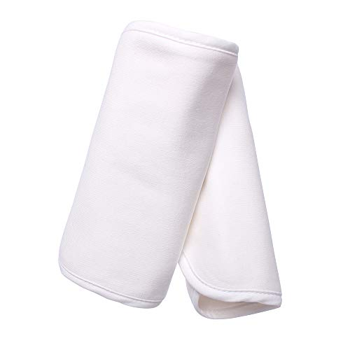 Baby Preferred Drool Bib 2-in-1 Sun Shade w// 6 Layer Protection Burping Cloths Design White /& Grey Stars