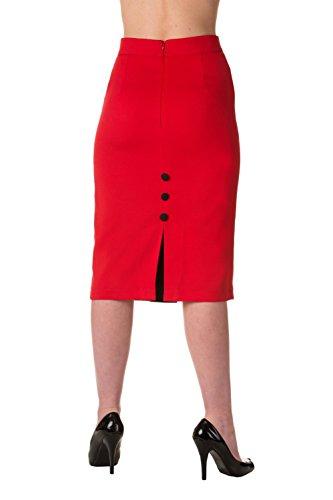 Falda de lápiz escocesa de Banned (rojo) Rosso