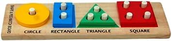 Little Genius Shape and Peg Match Board, Multi Color