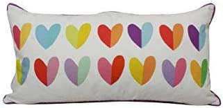 Lindsay Stepheson by Westex Decorative Throw Pillow, 14 x 26 , Oblong Multi Hearts