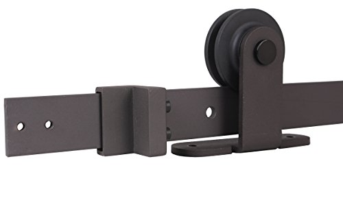 TMS SlidingDoorHardware-OJ-TSQ05-ORB Modern European Style Barn Wood Sliding Door Hardware Track Set by TMS