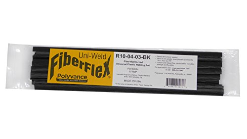 Polyvance FiberFlex Plastic Welding Rod, Flat Ribbon, 30 ft, Black