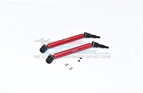 Arrma 1//10 KRATON 4S BLX Upgrade Parts Harden Steel+Aluminum Front Or Rear Adjustable CVD Drive Shaft 2Pc Set Red