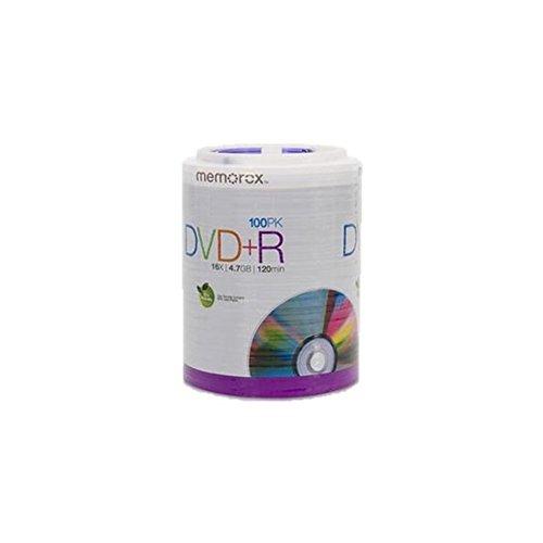 Memorex 16X DVD+R (100 PK), 100 pack DVD+R Tote (32020034438)