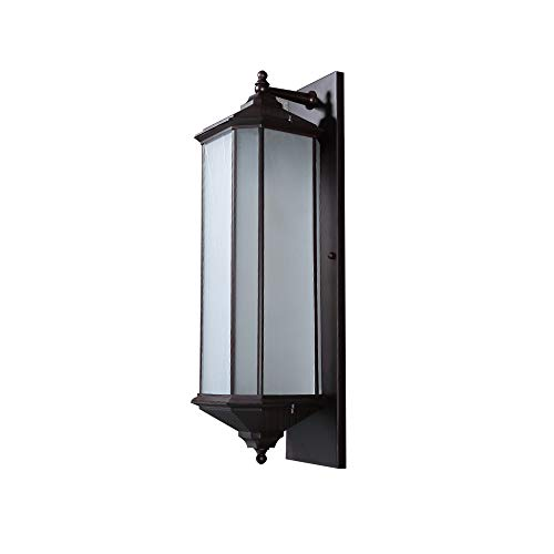 Senna House SH-62661 Outdoor Wall Light, Metal Base Lighting Fixture, Glassical Wall Lamp,1 Bulb Lighting, Brown Wall Light, Waterproof Wall ()