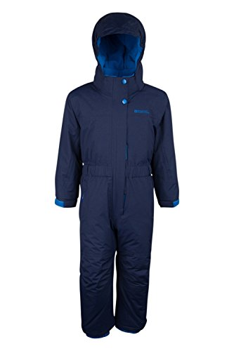 Mountain Warehouse Cloud All In 1 Kids Snowsuit - Waterproof Jumpsuit Navy 3-4 - Warehouse Suit