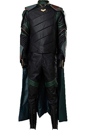 Cosplaysky Thor Ragnarok Loki Costume Halloween Outfit Black Version X-Large]()