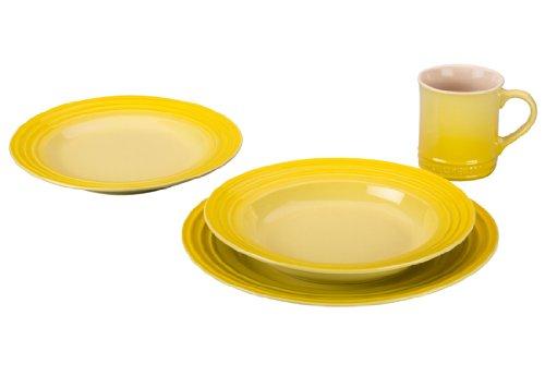 Le Creuset Stoneware 4-Piece Dinnerware Set, Soleil