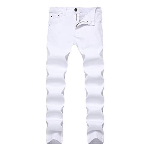 iHPH7 Jean Men,Pocket Jeans Men,Regular Fit Jeans Men,Relaxed Jeans Men, Ripped Jeans for Men,Slim Fit Jean Men,Skinny Jeans for Men,Straight Fit Jeans Men 40 White