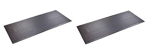 SuperMats Heavy Duty P.V.C. Mat for Treadmills/Ski Machine (2.5 Feet x 6 Feet) (2 Pack)