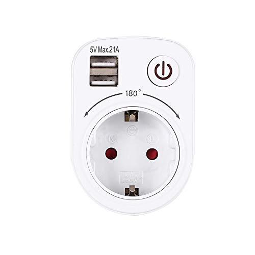 5V 2.1A Adaptador de cargador USB dual eléctrico Enchufe de la UE ...