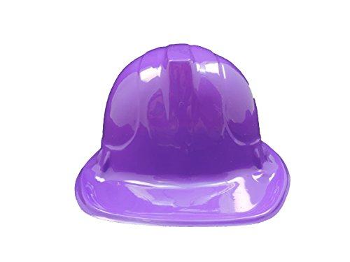 PURPLE Kid's Plastic Miner Construction Hard Hats Set Of 12]()