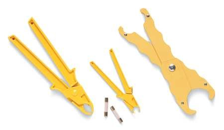 Industrial Fuse - Fuse Puller, Large, 7-1/4 In L, Yellow