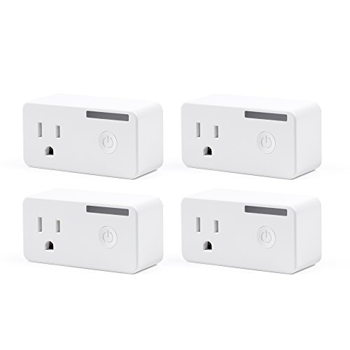 Link Dot (BN-LINK Smart WiFi Outlet, Hubless with Energy Monitoring and Timer Function, No Hub Required, White, Compatible with Alexa and Google Assistant (4-Pack))