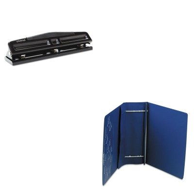 KITLEO61602UNV74323 - Value Kit - Charles Leonard Varicap6 Expandable 1 To 6 Post Binder (LEO61602) and Universal 12-Sheet Deluxe Two- and Three-Hole Adjustable Punch (UNV74323)