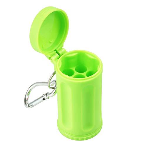 (fumak Durable Portable Public Smoke Pocket Ashtray for Iqos Servitude Candy Color ABS Car Ashtray Mini Italy Outdoor Beach Ashtray (Green))