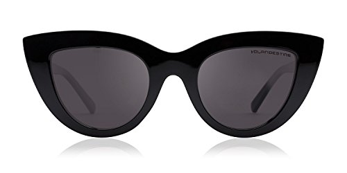 amp; Negro Polarizadas CLANDESTINE Mujer sol de Gatto Hombre amp; Negro Quadrato Gafas Gatto YFRW7q8Rng