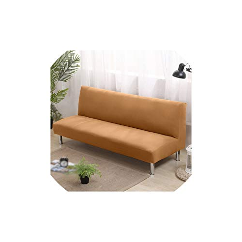 Futon Slipcovers Universal Armless Sofa Bed Cover Folding Seat Slipcover Modern Stretch Covers Couch Protector Elastic Futon Cover - Cover Futon Camel
