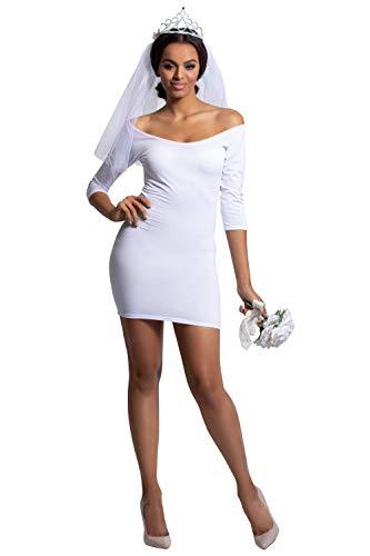 Yandy Exclusive Sexy Deluxe American Bachelorette Bride Princess Costume Medium White -
