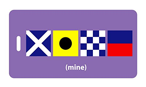 Mine Luggage Tag - Mine Nautical Flags Luggage Tag