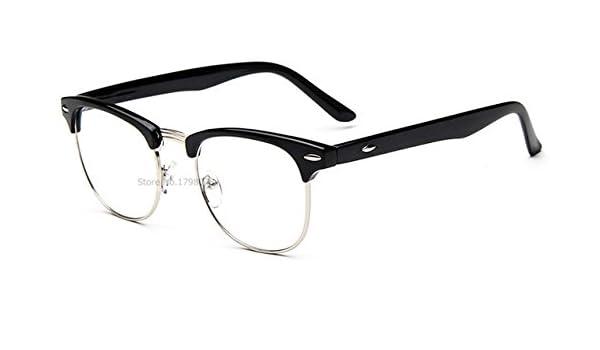 0fc7776736bd Amazon.com  Embiofuels(TM) Eyewear Frames Female Male Eyeglasses Lady  Vintage Retro Computer Myopia Optical Eye Glasses Frames Spectacle Frame   Silver F ...