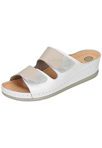 Dr. Brinkmann Mujeres Footbed Zapatos White Weiß