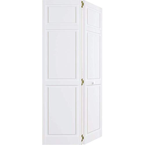 Snavely International Closet Door, Bi-fold, 6-panel Style Primed White