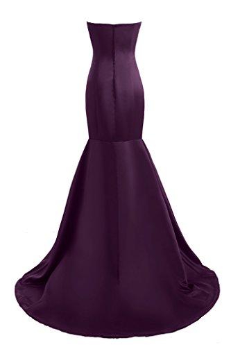 Diseño de la Toscana de novia vestidos de novia por la noche de sirena de satén virgen de largo vestidos de fiesta de fútbol duro Traube
