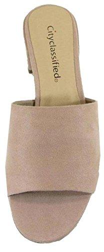 Dusty Slip City On Mule Women's Clog Heel Sandal Block Mauve Classified FIqCIz