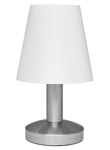 Touch Me Dimmer Nachttischlampe/ Leselampe/ Tischlampe, 3-stufige Touchfunktion, (weiss stoff)