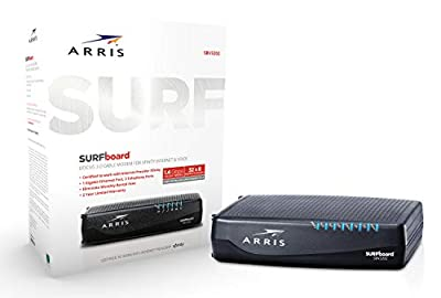 ARRIS Surfboard (32x8) DOCSIS 3.0 Cable Modem, 1.4 Gbps Max Speed, Xfinity Telephone Capable for 2 Lines, Certified for Comcast Xfinity Only (SBV3202)