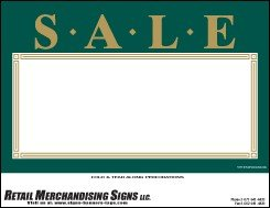 Price Sign Laser Cards QuotSale Green Goldquot PC Printable 3 Sizes Available