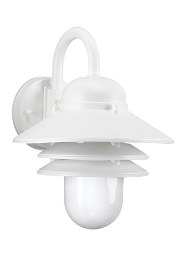 Polycarbonate Lanterns Collection (Sea Gull Lighting 83055-15 One-Light Outdoor Wall Lantern with White Plastic Polycarbonate Diffuser, White Finish)
