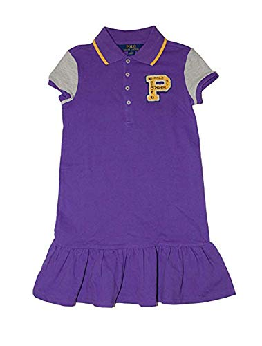 Ralph Lauren Polo Girls Crested P Patch Rugby Dress (XL 16)