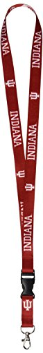 NCAA Indiana Hoosiers Lanyard with Detachable Buckle