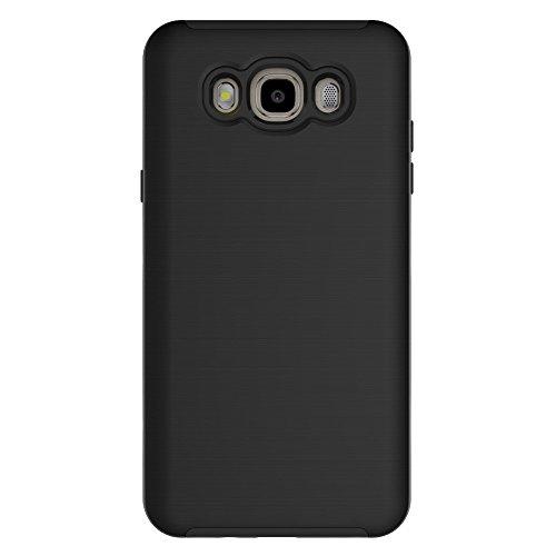 SRY-Funda móvil Samsung Para el caso de la galaxia J510 de Samsung, anti-vibración desprendible PC + cubierta protectora de la contraportada de TPU ( Color : Green ) Black