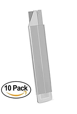 Internet's Best Box Cutter Utility Knife | Set of 10 | Retractable Razor Knife Set | Full Metal